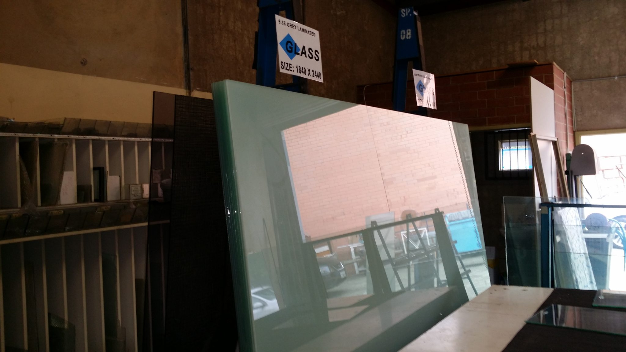 Translucent laminated glass sheets
