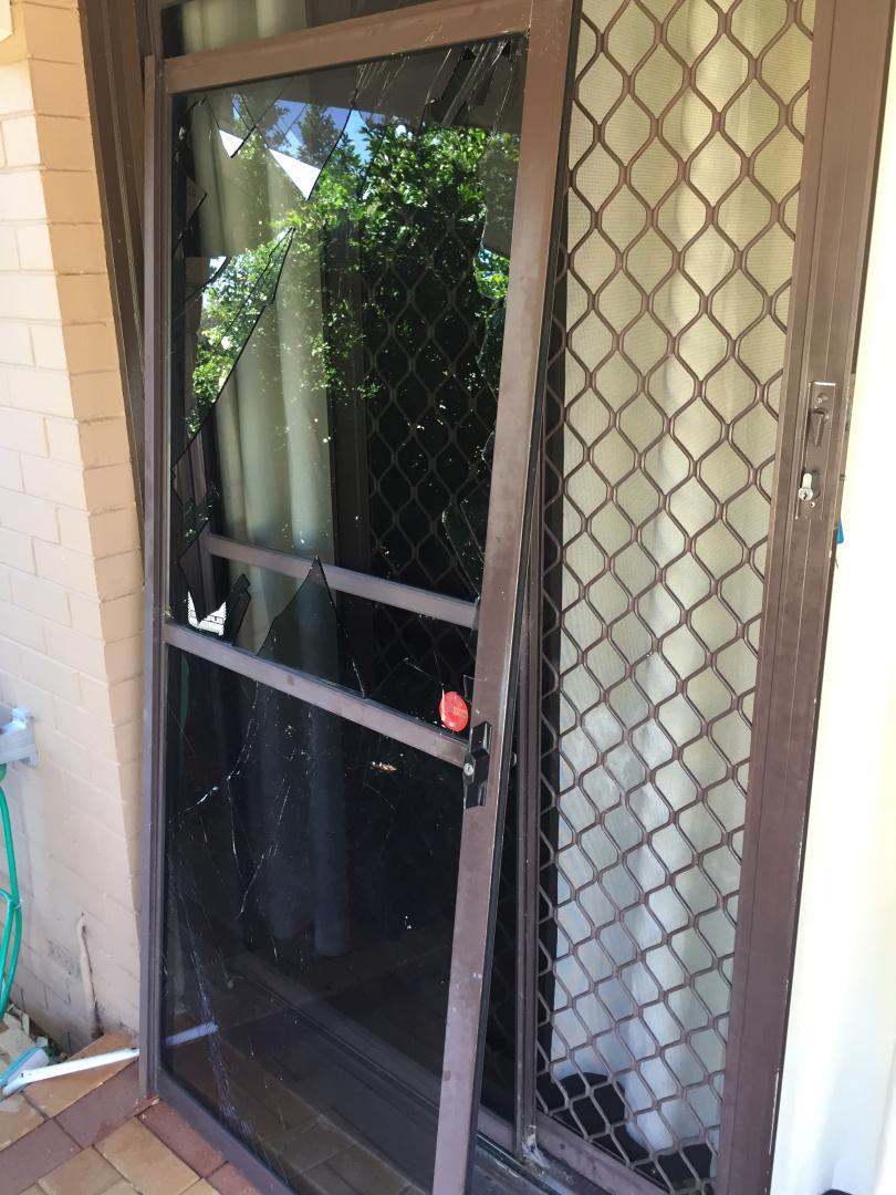 Glass repair to sliding door
