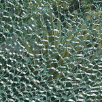 broken toughened tempered glass